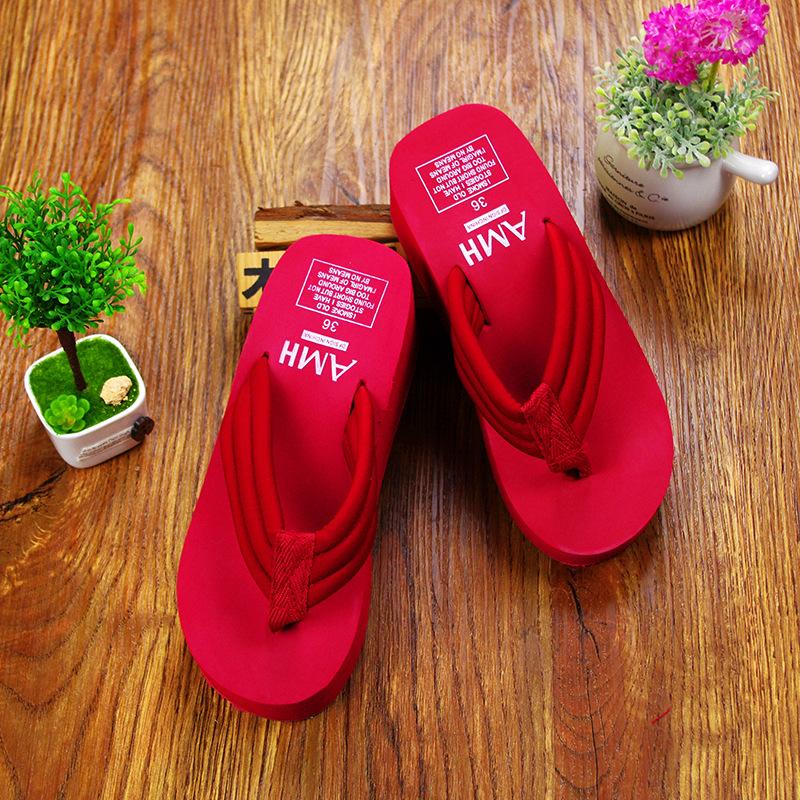 2016 Fashion Women Shoes Flip Flops Women Sandals Woman Casual Platform Sandals Solid Sanglaide Zapatos Mujer(China (Mainland))