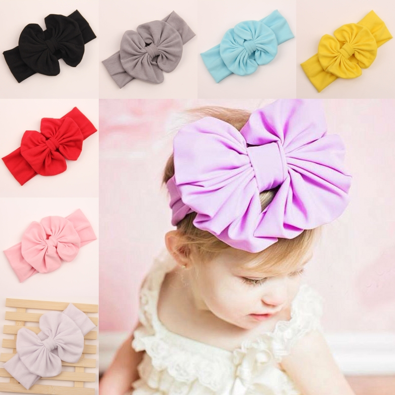 baby girl headbands hair bows for hair infant head wraps bands headwraps turbantes big cotton fabric headband accessories 2015(China (Mainland))