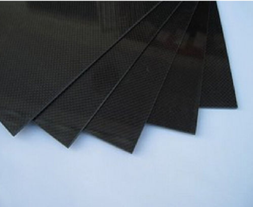 1pcs Black 200x500x1mm RC Carbon Fiber Plate Panel Sheet 3K Plain Weave Both Sides Glossy Surface(China (Mainland))