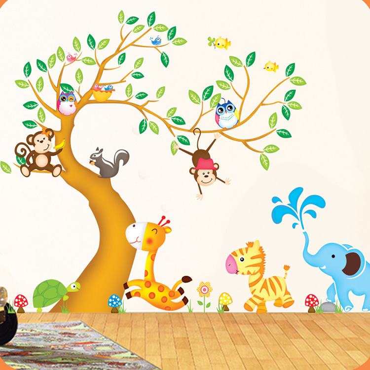 Nursery Monkey Wall Decals
