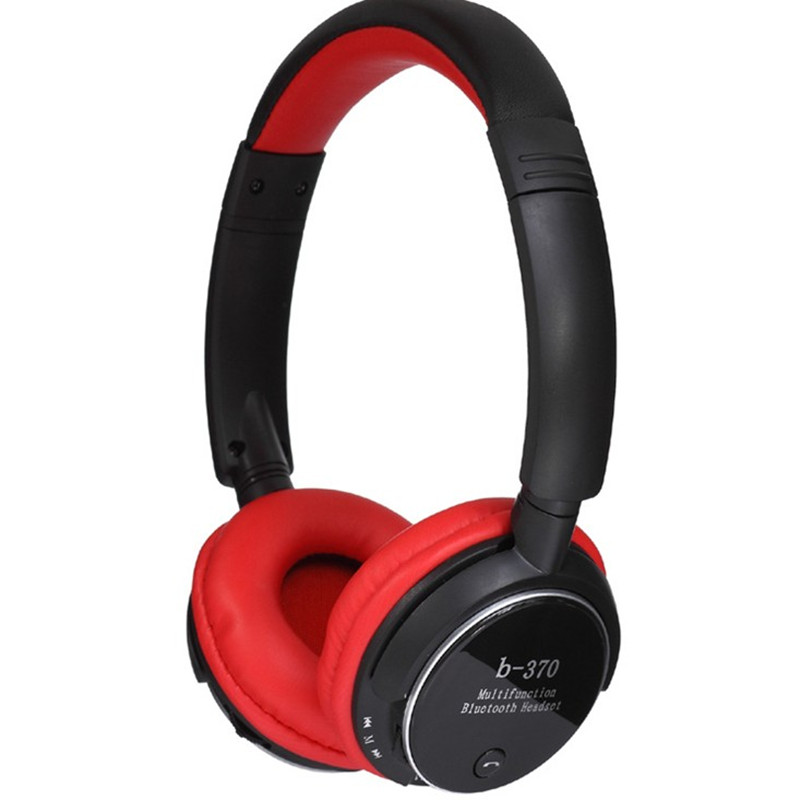 Free Shipping! Superb sound b-370 Bluetooth Headset TF Card FM radio MP3 Player Hands free Calls 5 Colors(China (Mainland))