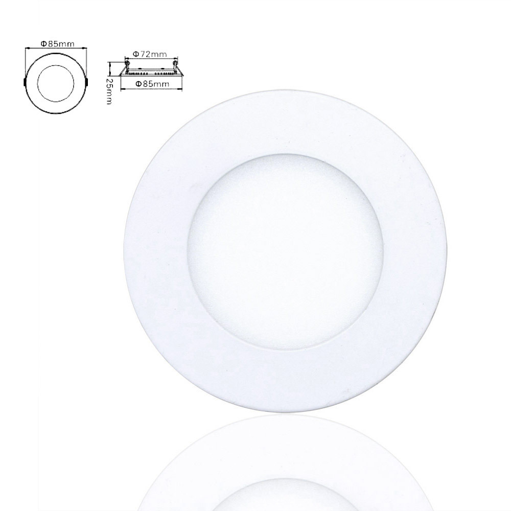 Dimmable 6W Ultra Thin LED Downlight Bulb Aluminum Round Panel Ceiling Recessed Light AC85-265V Lamp Indoor Lighting(China (Mainland))
