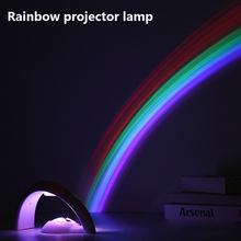 Creative Colorful Romantic Sky Rainbow Projector Lamp LED Colorful Rainbow Night Lights for Home Decoration Novelty Gifts(China (Mainland))