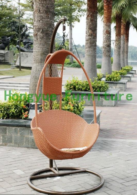 Mimbre silla marr n huevo colgante muebles de jard n en for Sillas colgantes para jardin