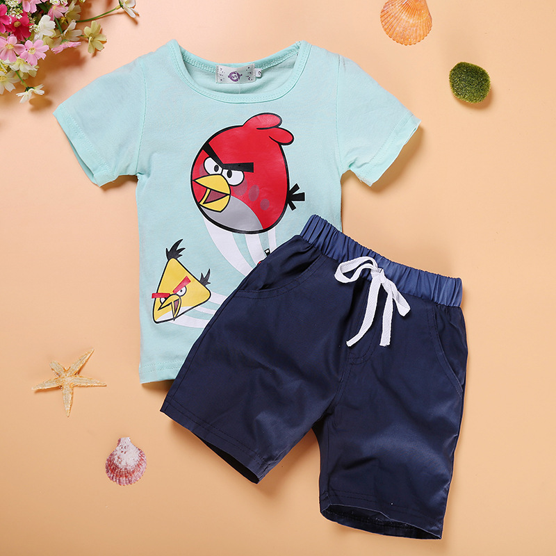 2016 Summer Style Infant Clothes Children Clothing Sets Kids Boy Cotton Monsters Outfits Short Sleeve 2pcs Set Baby Girl Clothes<br><br>Aliexpress
