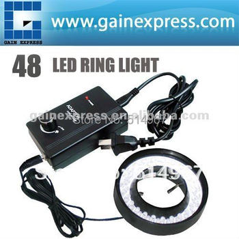 48 LED Microscope Ring Light  43mm-151mm Light range Illuminator Illumination Lamp Camera with Adjustable Brightness