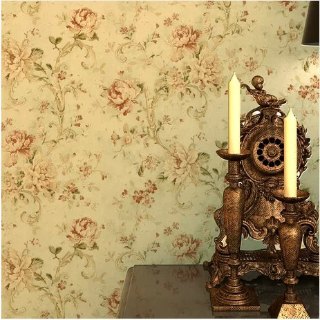 Vintage floral wallpaper for walls imported retro papel de for Classic mural wallpaper