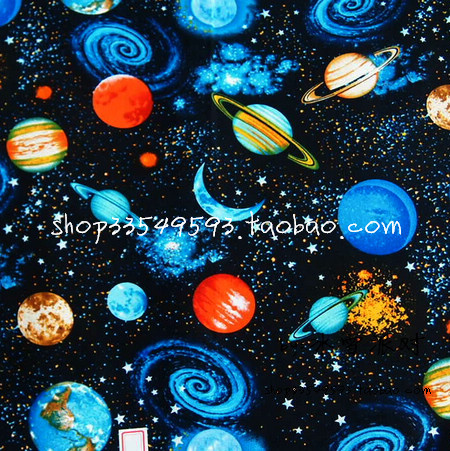 50*105cm Gorgeous little universe/ Space galaxy cotton fabric Sewing DIY Handmade Material Hometextile Patchwork BABY Bedding(China (Mainland))