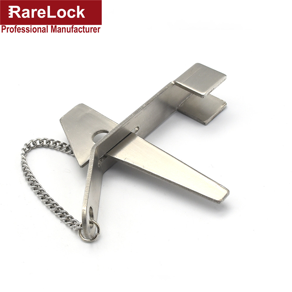 LHX BMMS304 Door Lock Stainless Steel Security Hasp Latch Lock No Installation Portable Convenient(China (Mainland))