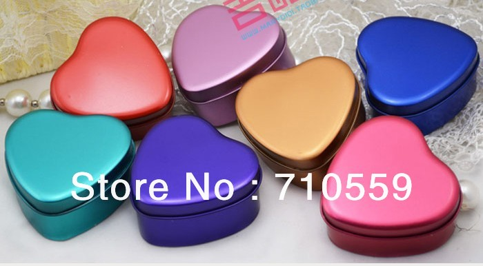 Wedding supplies Heart-shaped tin box candy box packaging gift ideas personalized wedding(China (Mainland))