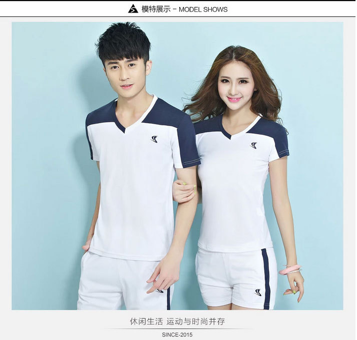 2015 Badminton suits women lovers table tennis sportswear couples suite volleyball clothes fitness training suit(China (Mainland))