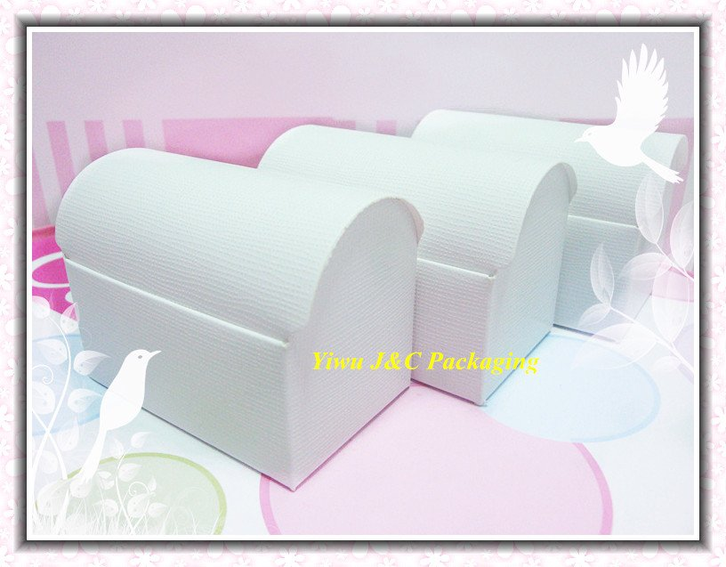 100pcs FREE SHIPPING-- HOT White Wedding Treasure Chest Favor Boxes,Candy Box, Gift Box (JCO-411a)(China (Mainland))