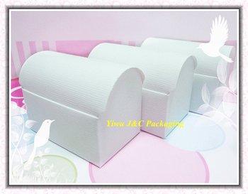 100pcs FREE SHIPPING-- HOT  White Wedding Treasure Chest Favor Boxes,Candy Box, Gift Box (JCO-411a)