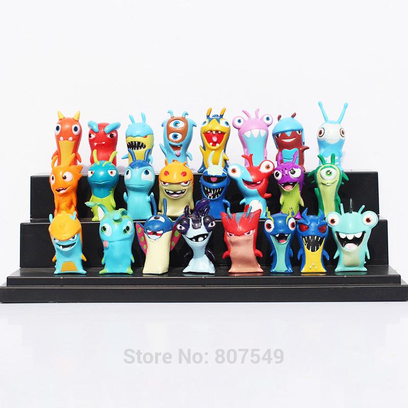 5sets 1set=24pcs 5cm Cartoon Mini Slugterra PVC Action Figures Toys Model Dolls For Children Free Shipping <br><br>Aliexpress