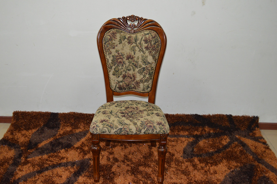 Antique Luxury European Style Pattern Hotel Dining Chair Solid Carved Wood Chair Furniture Living Room 902B(China (Mainland))