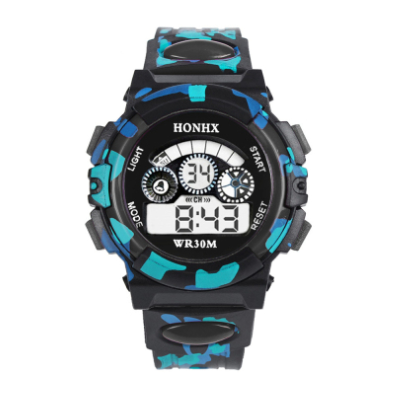 HONHX Hot Sale Outdoor Watch Kids Child Boy Girl Multifunction Sports Electronic Wrist Watch Good-looking style clock As Gift(China (Mainland))