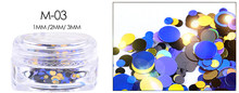 MANZILIN เงารอบ Ultrathin เลเซอร์ Sequins ที่มีสีสันเล็บเคล็ดลับ Glitter UV Gel 3D เล็บตกแต่งเล็บ DIY อุปกรณ์เสริม(China)