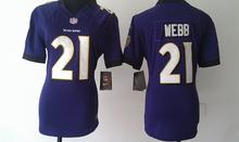 2016 Women Ladies Baltimore Ravens, 55 Suggs #21 Webb #20 Reed 5 Joe Flacco,100% stitched logo(China (Mainland))