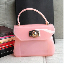 women Messenger bag furly candy handbag jelly phone Sandy beach mini bag Summer Transparent bag bolsa de praia candy bag