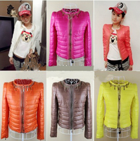 Winter Duck Down Jacket Women 2015 New Spring Autumn Plus Size Candy Color Slim Casual Parka Fashion Coat T010