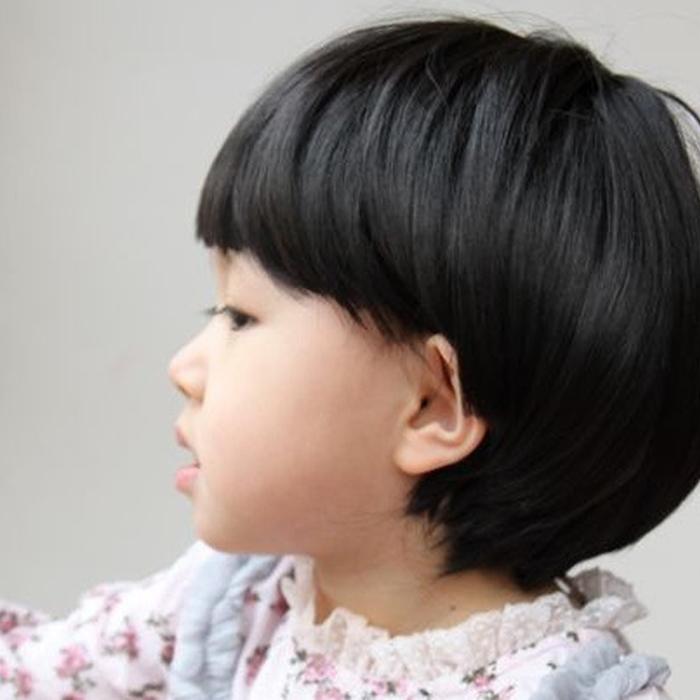 Korean Style Lovely Baby Girl Wigs Kids Child Short Straight