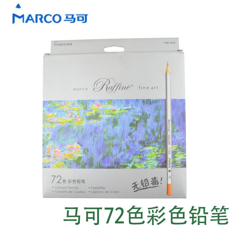 Здесь можно купить  7100-72CB Marco professional colored pencil 72 oily colored pencils with paper box  Офисные и Школьные принадлежности