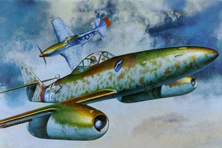 Messer schmidt WW2 world war II airplane jet 4 Sizes Wall Decor Canvas Poster Print(China (Mainland))