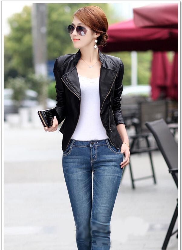 Korean Spring new arrive Women big size Jackets coat women genuine leather slim short jacket coat jaqueta de couro femininaОдежда и ак�е��уары<br><br><br>Aliexpress