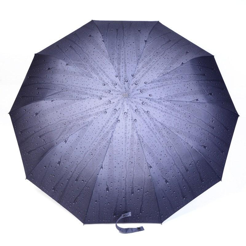 3D Stereo Vision Rain Drops Auotmatic 3 Fold 4 Color Unisex Clear Rain Umbrellas For Sale Original Famous Brand Umbrella Parasol(China (Mainland))