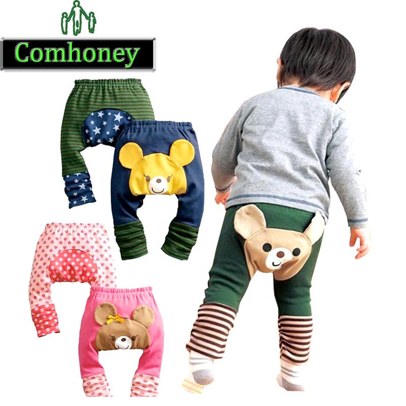 Baby Leggings Cartoon Kawaii Girls Boys Leggings Kids PP Pants Elastic Cute Trousers for Infant Toddlers Children Clothes(China (Mainland))