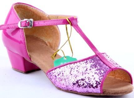 Девочки обувь практика блёстки сандалии танцевальный зал латинский танго обувь танцы обувь