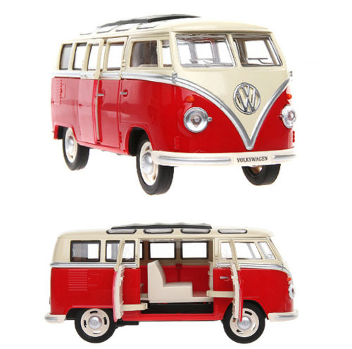 1/24 Scale Diecast Bus Model Volkswagen Micro Bus Meizhi Car Toys Collection(China (Mainland))