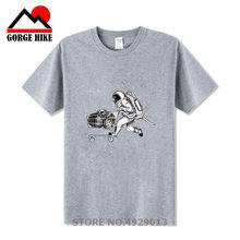 Astronot Kapal Planet-Planet dengan Belanja Troli Keranjang Belanja Cetak Pria T Shirt Keren Kasual Pria T-shirt O-neck Pria Tops Tee kemeja(China)