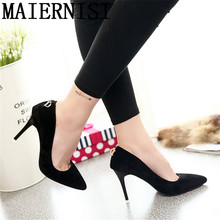 Vintage Sexy Red Black Blue Pointed Toe High Heels Women Pumps Shoes 2016 Brand New Design