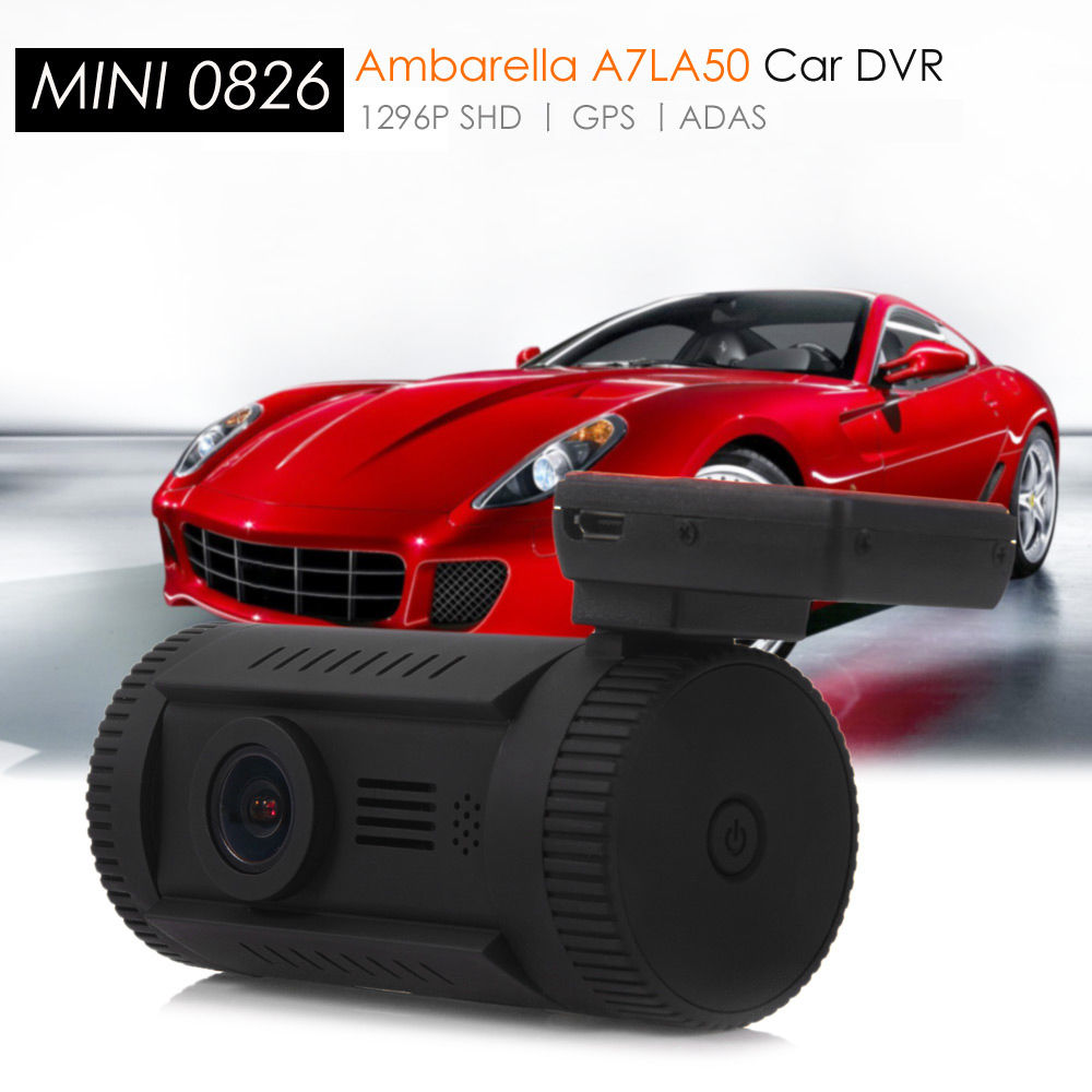 Здесь можно купить  Free Shipping!Mini 0826 Ambarella A7LA50 Super HD 1296P Car GPS Mount Dash Camera DVR Cam CPL  Автомобили и Мотоциклы