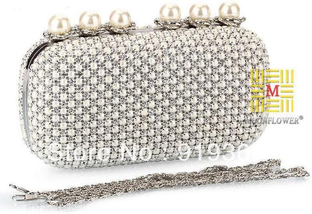 New rhinestone evening bags, pearl clutch bags, luxury evening bag full of rhinestone clutch bags,,free shipping