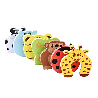New Arrival cosy Cartoon Baby Kid Child Edge Corner Guards Foam Door Jammer Finger Protector Stoppers(China (Mainland))