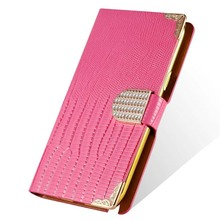 Note 2 Shining Wallet Flip Cover PU Leather Case For Samsung Galaxy Note 2 II N7100 Phone Bag Rhinestone Buckle Gold Back Cover(China (Mainland))