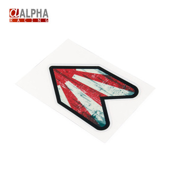 Alpha Racing-High Quality universal New arrive Auto Car 1pcs car stickers and decals car styling JDM style Red Arrow