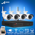 New Arrival Plug And Play 4CH Wireless NVR CCTV System 720P HD Outdoor Weatherproof 36 IR