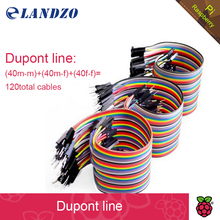 free shipping Dupont line 120pcs 20cm male to male + male to female and female to female jumper wire Dupont cable(China (Mainland))
