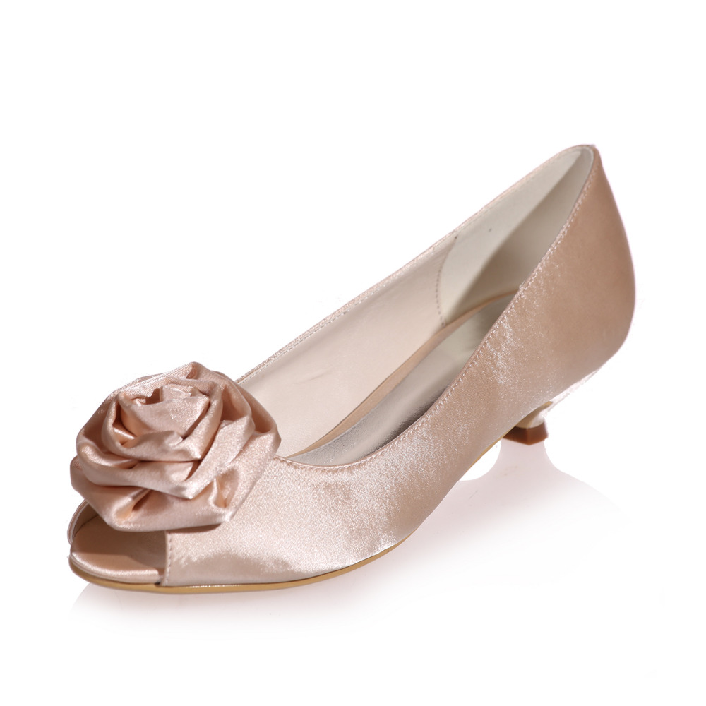 Silver Party Shoes Low Heel