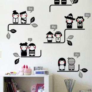 Hot-selling diy pvc wall sticker pvc child rustic wall stickers doll