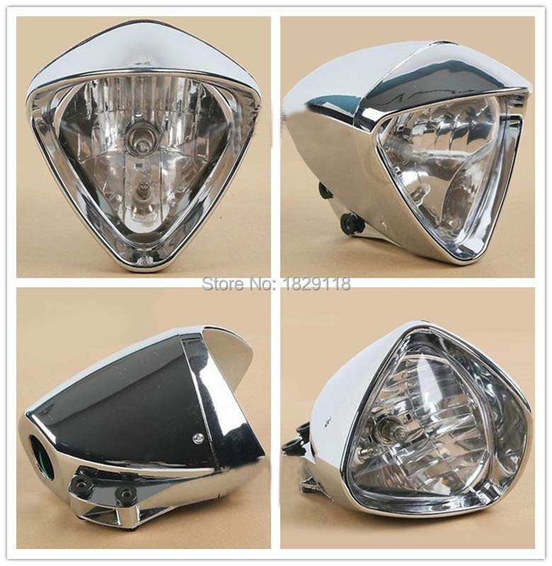 "6"" Chrome Plated Cobra Headlight Light For Honda Magna Steed Shadow Motorcycle"