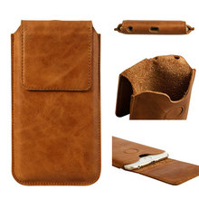 Jisoncase Sleeve Bag Case For Iphone 6 Plus 5.5'' Genuine Leather Magnetic Closure Carrying Bag Pouch Cover(China (Mainland))