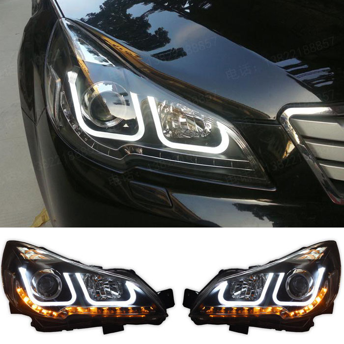 Free shipping ! HID LED headlights headlamps HID Hernia lamp accessory products For Subaru Outback 2010 2011 2012 Car styling<br><br>Aliexpress