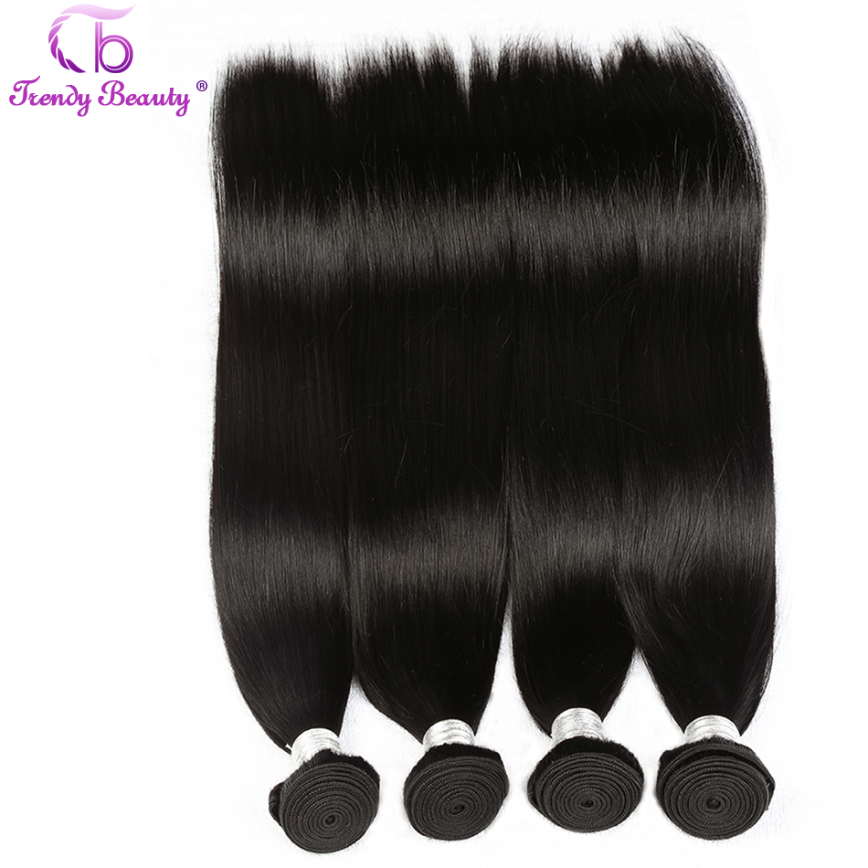 Trendy Beauty Remy Hair Brazilian Straight Weave bundle 100% Human Straight Hair Extensions Can Be Dyed Natural 1B color