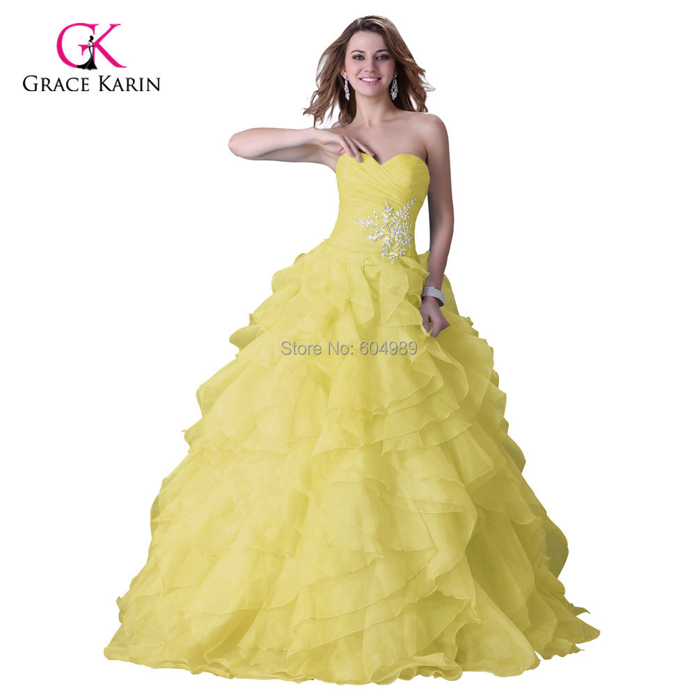 2016 grace karin cheap yellow blue fuchsia wedding dress for Fuchsia dress for wedding