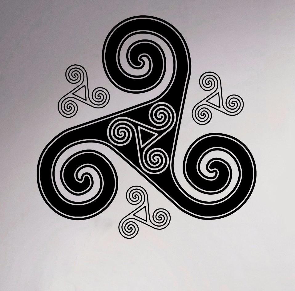 Celts Mosaic Wall Vinyl Decal Retro Ornament Room Sticker Home Interior Bedroom Decor Scandinavian Design Mural