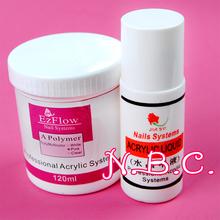 Pink 120g Jumbo Size Nail Acrylic Powder, 1x acrylic liquid -75ml Nail Art UV Gel and Acrylic Manicure Tools 3D Tips DIY(China (Mainland))